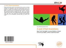 Couverture de 2 and 3 Part Inventions