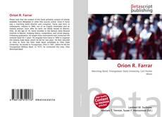 Capa do livro de Orion R. Farrar
