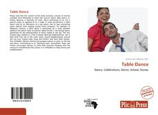 Capa do livro de Table Dance