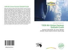 Buchcover von 1930 Air Union Farman Goliath Crash