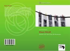 Buchcover von Klaus Händl