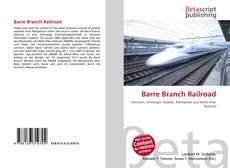 Couverture de Barre Branch Railroad