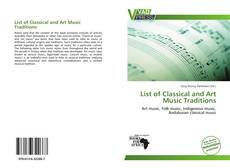 Bookcover of List of Classical and Art Music Traditions