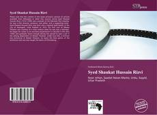 Bookcover of Syed Shaukat Hussain Rizvi