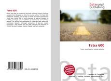 Buchcover von Tatra 600