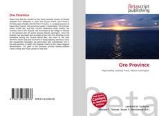 Bookcover of Oro Province