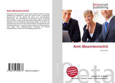 Buchcover von Amt (Beamtenrecht)