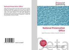 Bookcover of National Preservation Office
