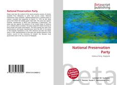 Bookcover of National Preservation Party