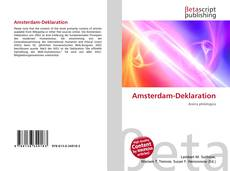 Amsterdam-Deklaration的封面
