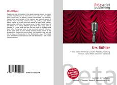 Bookcover of Urs Bühler