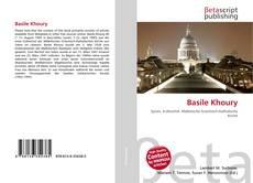 Portada del libro de Basile Khoury