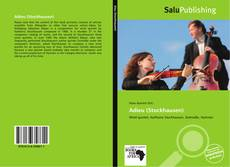 Bookcover of Adieu (Stockhausen)