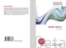 Buchcover von Speak, Music!