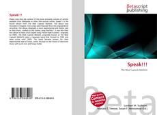 Buchcover von Speak!!!