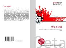 Bookcover of Oro (Song)