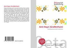 Portada del libro de Amt Hayn (Großenhain)