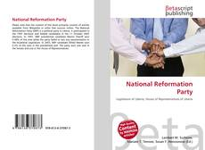 Bookcover of National Reformation Party