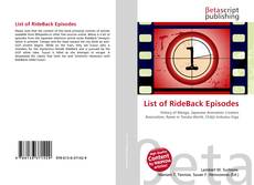 Bookcover of List of RideBack Episodes