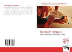 Bookcover of Extended Techniques