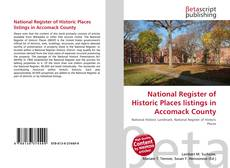 Bookcover of National Register of Historic Places listings in Accomack County