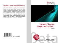 Bookcover of Speakers' Corner, Singapore/Version 1
