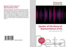 Bookcover of Speaker of the House of Representatives of Fiji