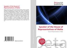 Bookcover of Speaker of the House of Representatives of Malta