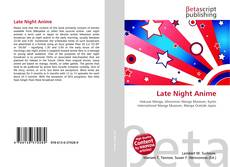 Bookcover of Late Night Anime