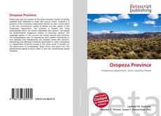 Bookcover of Oropeza Province