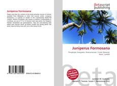 Bookcover of Juniperus Formosana