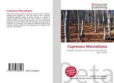 Capa do livro de Cupressus Macnabiana