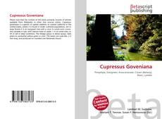 Capa do livro de Cupressus Goveniana
