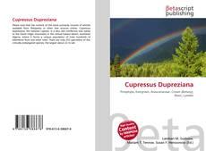 Capa do livro de Cupressus Dupreziana