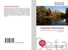 Capa do livro de Cupressus Abramsiana