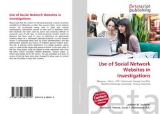 Buchcover von Use of Social Network Websites in Investigations