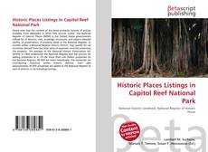 Bookcover of Historic Places Listings in Capitol Reef National Park