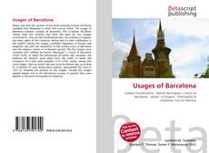 Capa do livro de Usages of Barcelona