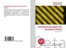 Copertina di Amtsbezeichnungen der deutschen Polizei