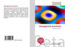 Bookcover of Amtsgericht Auerbach