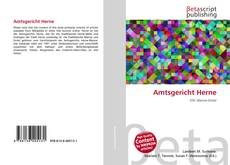 Capa do livro de Amtsgericht Herne