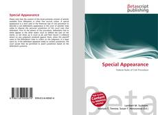 Bookcover of Special Appearance