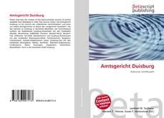 Bookcover of Amtsgericht Duisburg