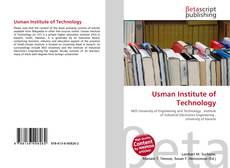 Buchcover von Usman Institute of Technology