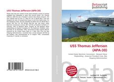 Capa do livro de USS Thomas Jefferson (APA-30)