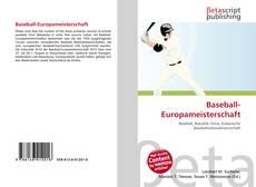 Baseball-Europameisterschaft的封面