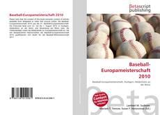 Bookcover of Baseball-Europameisterschaft 2010