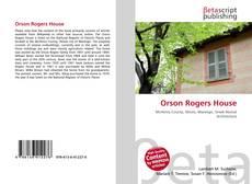 Capa do livro de Orson Rogers House