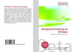 Buchcover von Amtsgericht Freiburg im Breisgau