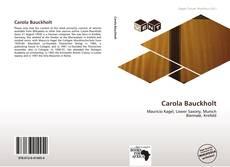 Portada del libro de Carola Bauckholt